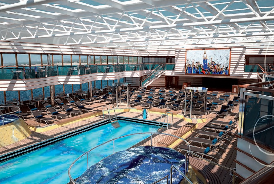 Le costa luminosa croisi re tour du monde pr paratifs - Costa luminosa piscine ...