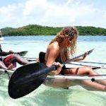 Escale à la Grenade Kayak à fond transparent