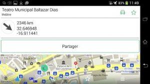 Description du point d'intéret et distance depuis l'application gps hors connexion