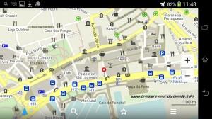 Zoom et détails de la carte de Funchal