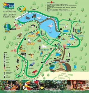 Carte Singapour Jurong Bird Park