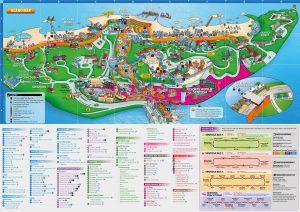 Singapour carte touristique Ile de Sentosa