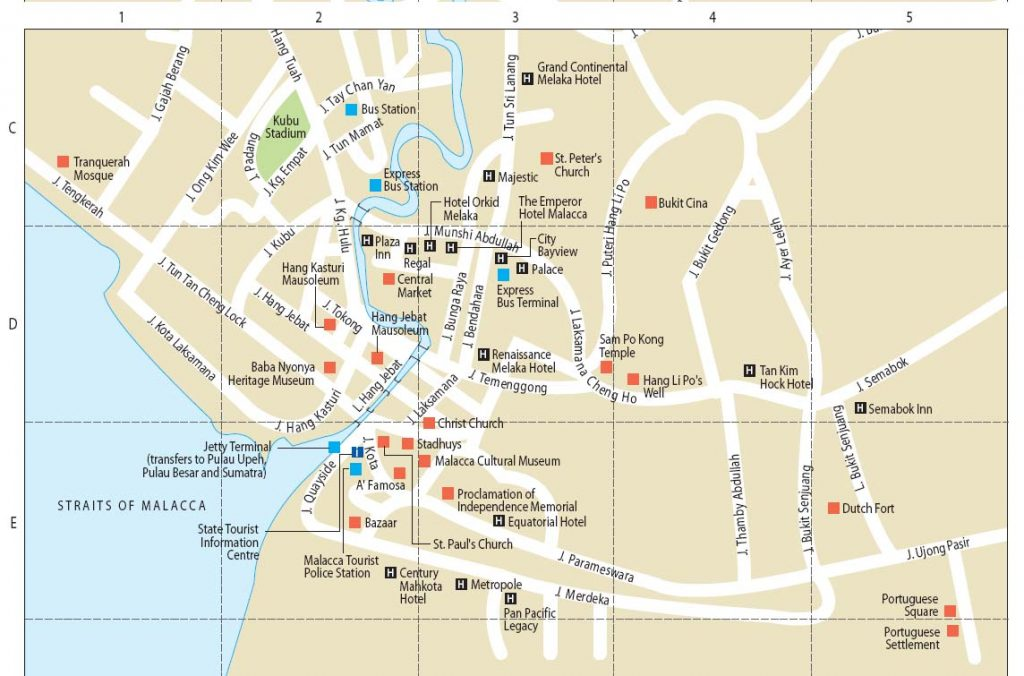 Carte de Melaka - Malacca