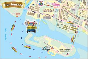 Carte tour touristique Duck Tour