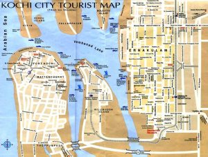 Carte touristique de Cochin