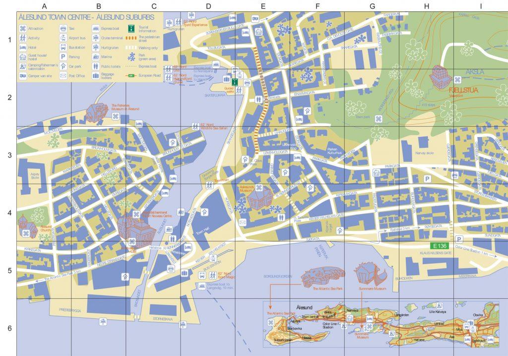 Carte Touristique Alesund
