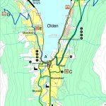 Carte des circuits pédestres d'Olden en Norvège