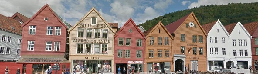 Quartier Bryggen Bergen Norvège