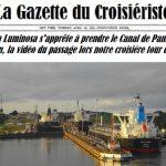 La Gazette du Croisiériste le Costa Luminosa s'apprête à prendre le Canal de Panama
