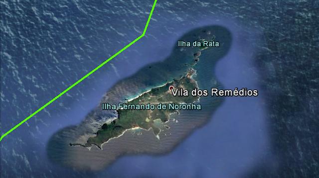 Croisière tour du monde Austral 2017 Le Costa Luminosa passe à proximité de l'île Fernando de Noronha (Brésil)