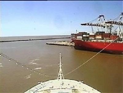 Croisière tour du monde Autral 2017 Webcam du Costa Luminosa à Quai au port de Buenos Aires Argentine