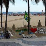 La croisière tour du monde austral 2017 de Claudine et Jean-Luc La plage de Copacabana