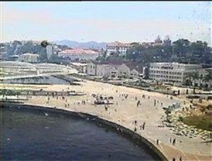 Vue webcam Avant Le Costa Luminosa à quai au port de Rio de Janeiro 2