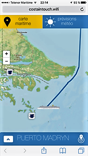 Croisière tour du monde Austral 2017 suivi du Costa Luminosa sur l'application My Costa à bord