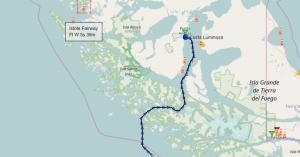 Croisière tour du Monde Austral 2017 Parcours du Costa Luminosa dans le Canal de Beagle au Chili