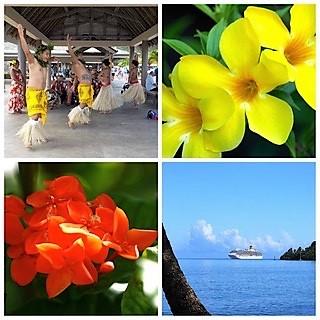 Croisière tour du monde Austral 2017 Jean Luc et Claudine en escale à Moorea (Tahiti)
