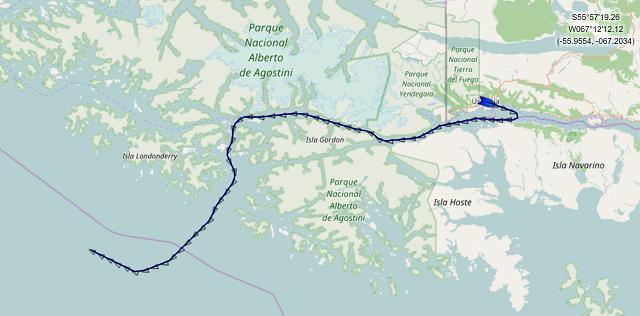 Croisière tour du monde Austral 2017 Le Costa Luminosa à repris sa route vers PUNTA ARENAS au CHILI