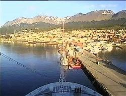 Croisière tour du monde Austral 2017 Webcam avant CostaLuminosa Ushuaïa Terre de Feu