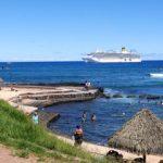 Des nouvelles des Passagers de la croisière tour du monde Austral 2017 Le deuxième jour d'escale de Jean luc et Claudine à l'île de Pâques