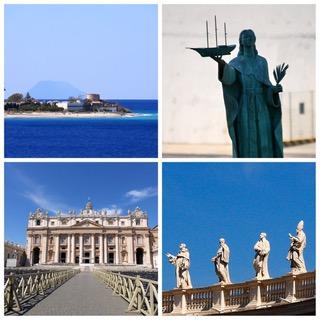 Dernière escale à Civitavecchia de la Croisière tour du monde Australe 2017 pour Claudine et Jean Luc à Rome
