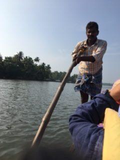 Jacques Charles en escale à Cochin en Inde