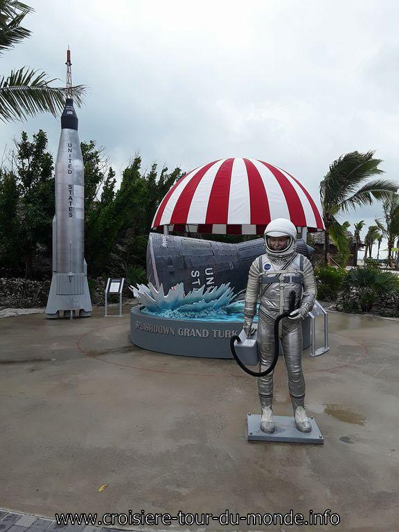 Île Grand Turque l'astronaute américain John Glenn