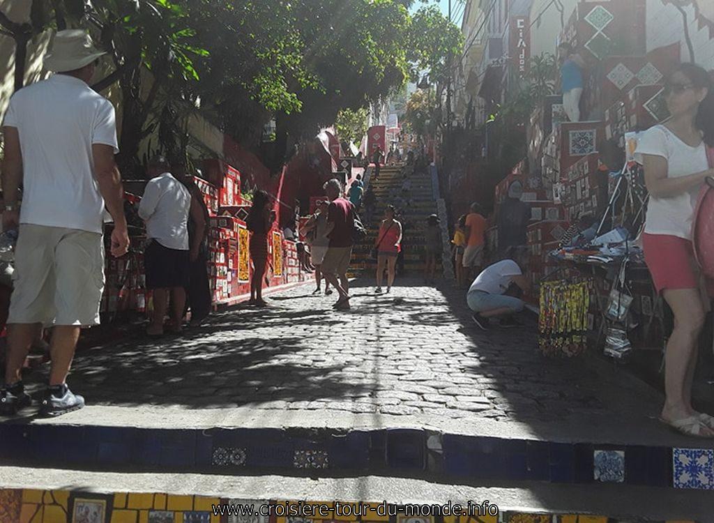 Escale à Rio de Janeiro au Brésil Escalier Selaron