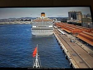Escale à Rio de Janeiro au Brésil webcam avant du Queen Victoria à Quai