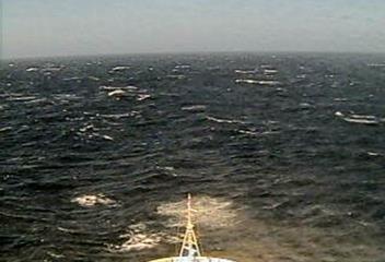 Webcam Queen Victoria En Navigation vers Ushuaia vents force 7 et mer très agitée