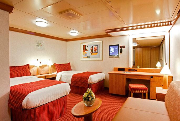 Les cabines du costa luminosa croisiere tour du for Costa pacifica ponti