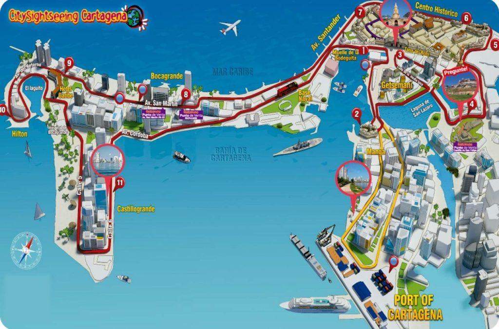 Carte Bus Touristique Carthagène