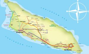 Carte des lignes de bus Arubus à Aruba