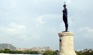 Escale Carthagène (Colombie) La statue de la India Catalina