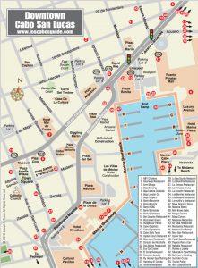 Escale à Cabo San Lucas carte centre ville