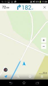 L'application gps hors connexion en mode Itinéraire avec guidage actif