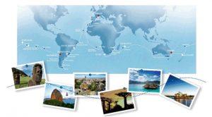 Carte Tour du monde Austral