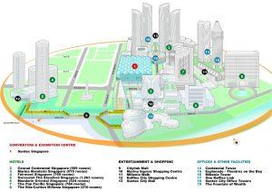 Carte Singapour Centre des expositions et des convention