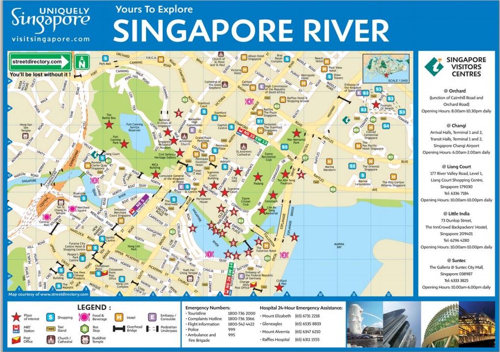 Carte Singapour River