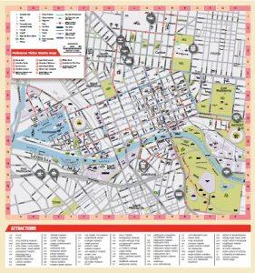 Carte touristique Melbourne
