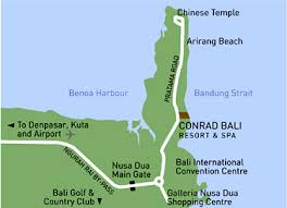 Conrad Bali Resort Map