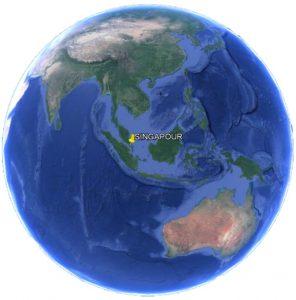 Croisière tour du monde Situation géographique de Singapour dans le monde