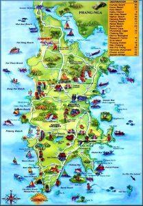 Carte touristique de Phuket