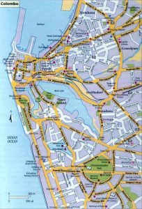 Croisière tour du monde Plan de la ville de Colombo au Sri Lanka