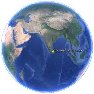 Croisière tour du monde Situation géographique de Colombo au Sri Lanka dans le monde