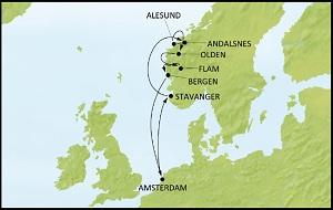 Carte Croisière Norvège