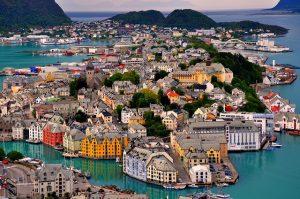 Ville Alesund Norvège