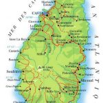 Carte de Sainte Lucie aux Antilles