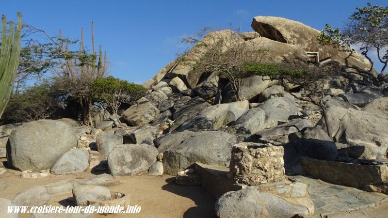 Escale à Oranjestad Aruba Casi Bari la formation de diorites