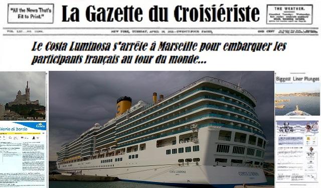 La Gazette du Croisiériste le Luminosa à Marseille
