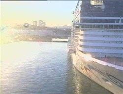 Vue de la Webcam arrière du Luminosa au port de Marseille